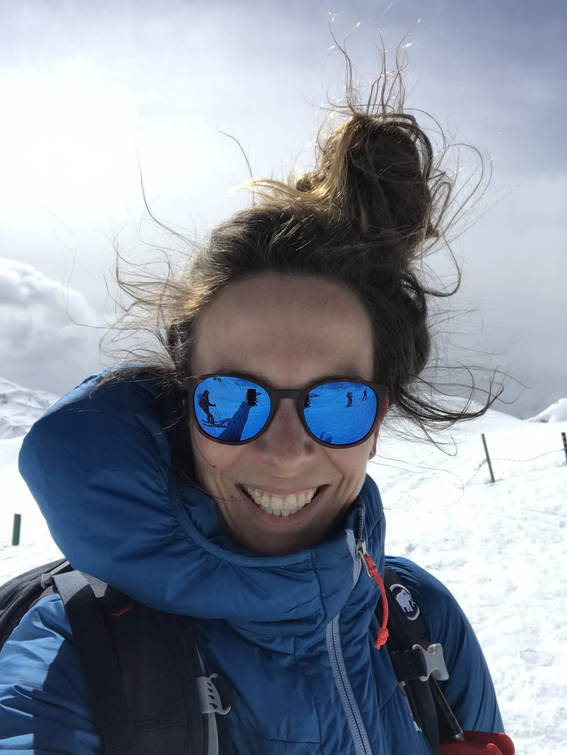 Kernteam Mitglied Rachel Pechholz Splitboarden Winter